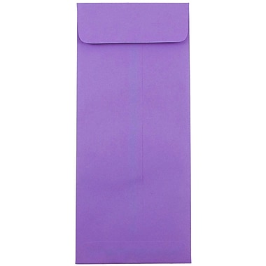 JAM Paper® #14 Policy Envelopes, 5 x 11.5, Brite Hue Violet Purple Recycled, 25/pack (4156911)