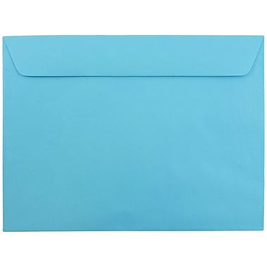 JAM Paper® 9 x 12 Booklet Envelopes, Brite Hue Blue Recycled, 25/pack (5156774)