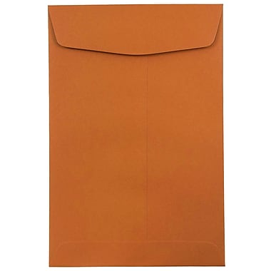 JAM Paper® 6 x 9 Open End Catalog Envelopes, Dark Orange, 100/pack (31287521)
