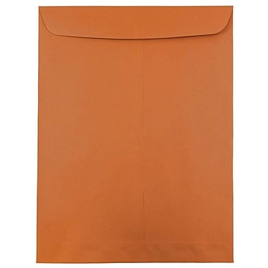 JAM Paper® 10 x 13 Open End Catalog Envelopes, Dark Orange, 10/pack (31287540B)