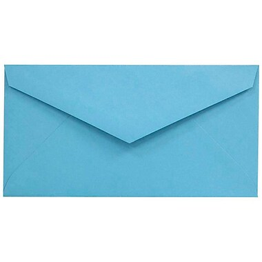 JAM Paper® Monarch Envelopes, 3 7/8 x 7 1/2, Brite Hue Blue Recycled, 1000/carton (34097574B)