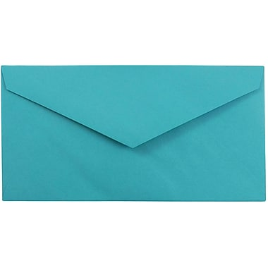 JAM Paper® Monarch Envelopes, 3 7/8 x 7 1/2, Brite Hue Sea Blue Recycled, 25/pack (34097576)