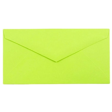 JAM Paper® Monarch Envelopes, 3 7/8 x 7 1/2, Brite Hue Ultra Lime, 25/pack (34097579)