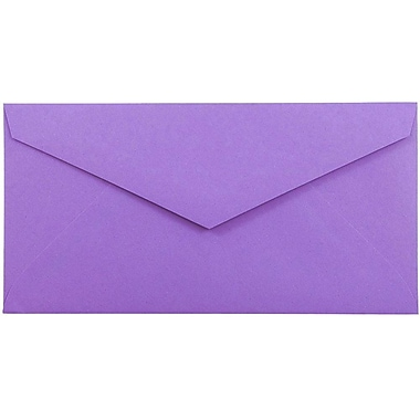 JAM Paper® Monarch Envelopes, 3 7/8 x 7 1/2, Violet Purple Recycled, 1000/carton (34097581B)