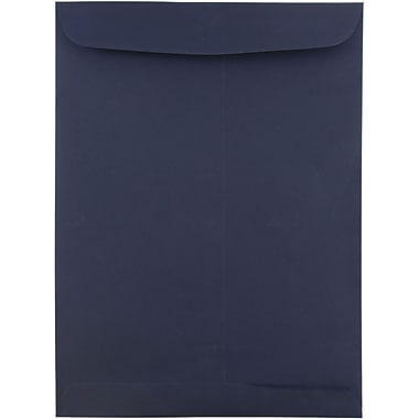 JAM Paper® 9 x 12 Open End Catalog Envelopes, Navy Blue, 10/pack (51287431C)