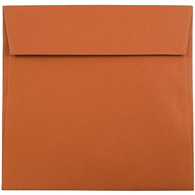JAM Paper® 6 x 6 Square Envelopes, Dark Orange, 1000/carton (61511346B)