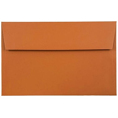 JAM Paper® A8 Invitation Envelopes, 5.5 x 8.125, Dark Orange, 1000/carton (61511362B)
