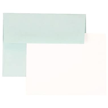 JAM Paper® Stationery Set, 25 Cards and 25 4bar A1 Envelopes, Aqua Blue, set of 25 (304624573)