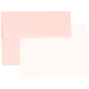 JAM Paper® Stationery Set, 25 Cards and 25 4bar A1 Envelopes, Baby Pink, set of 25 (304624581)