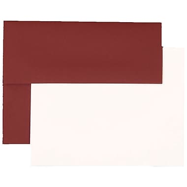 JAM Paper® Stationery Set, 25 White Cards and 25 A2 Envelopes, Burgundy, set of 25 (304624590)