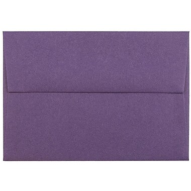 JAM Paper® 4bar A1 Envelopes, 3 5/8 x 5 1/8, Dark Purple, 25/pack (563912502)