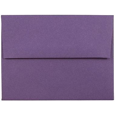 JAM Paper® A2 Invitation Envelopes, 4 3/8 x 5 3/4, Dark Purple, 25/pack (563912506)