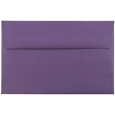 JAM Paper® A8 Invitation Envelopes, 5.5 x 8.125, Dark Purple, 1000/carton (563912510B)