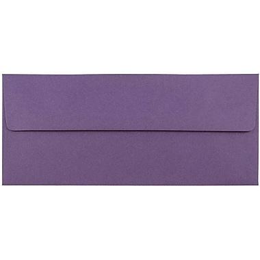 JAM Paper® #10 Business Envelopes, 4 1/8 x 9 1/2, Dark Purple, 25/pack (563912516)