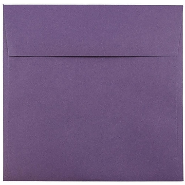 JAM Paper® 8.5 x 8.5 Square Envelopes, Dark Purple, 1000/carton (563912527B)