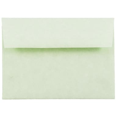 JAM Paper® 4bar A1 Envelopes, 3 5/8 x 5 1/8, Parchment Green Recycled, 25/pack (900826112)