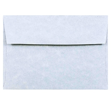 JAM Paper® 4bar A1 Envelopes, 3 5/8 x 5 1/8, Parchment Blue Recycled, 25/pack (900877844)