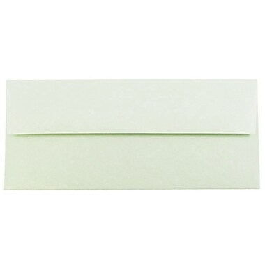 JAM Paper® #10 Business Envelopes, 4 1/8 x 9 1/2, Parchment Green Recycled, 25/pack (900906636)