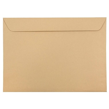 JAM Paper® 9 1/2 x 12 5/8 Booklet Envelopes, Ginger Brown Recycled, 25/pack (900911880)