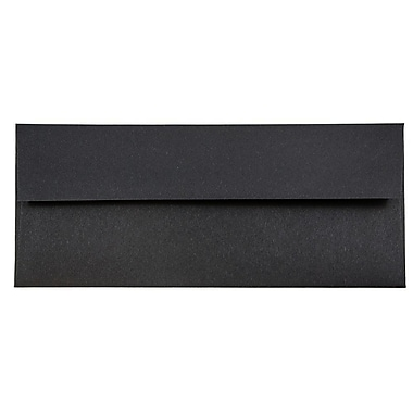 JAM Paper® #10 Business Envelopes, 4 1/8 x 9 1/2, Black Linen Recycled, 1000/carton (900921796B)