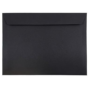 JAM Paper® 9 1/2 x 12 5/8 Booklet Envelopes, Black Linen Recycled, 1000/carton (900934622B)