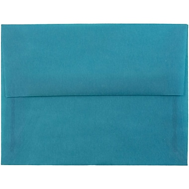 JAM Paper® A2 Invitation Envelopes, 4 3/8 x 5 3/4, Aqua Blue Translucent Vellum, 25/pack (1591674A)