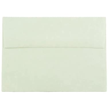 JAM Paper® A7 Invitation Envelopes, 5.25 x 7.25, Parchment Green Recycled, 1000/carton (519B)