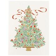 "JAM Paper Christmas Tree Christmas Card Box Set, 5.75"" x 7.75"", 25/Pack (52614492M)"