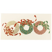 "JAM Paper Three Wreaths Holiday Christmas Card Box Set, 3.75"" x 7.25"", 25/Pack (52614492S)"