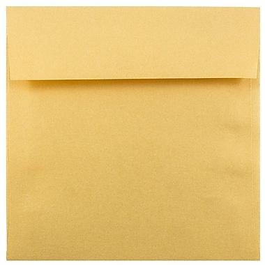 JAM Paper® 6.5 x 6.5 Square Envelopes, Stardream Metallic Gold, 1000/carton (GCST508B)