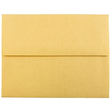 JAM Paper® A2 Invitation Envelopes, 4 3/8 x 5 3/4, Stardream Metallic Gold, 25/pack (GCST608)