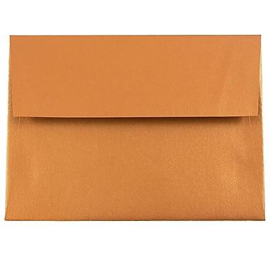 JAM Paper® A6 Invitation Envelopes, 4.75 x 6.5, Stardream Metallic Copper, 25/pack (GCST651)