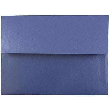 JAM Paper® A6 Invitation Envelopes, 4.75 x 6.5, Stardream Metallic Sapphire Blue, 25/pack (GCST655)