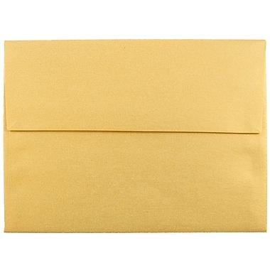 JAM Paper® A6 Invitation Envelopes, 4.75 x 6.5, Stardream Metallic Gold, 25/pack (GCST658)