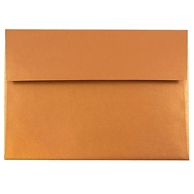 JAM Paper® A7 Invitation Envelopes, 5.25 x 7.25, Stardream Metallic Copper, 25/pack (GCST701)