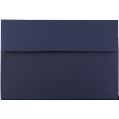 JAM Paper® A8 Invitation Envelopes, 5.5 x 8.125, Navy Blue, 1000/carton (LEBA767B)