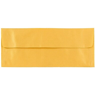 JAM Paper® #10 Business Envelopes, 4 1/8 x 9 1/2, Gold Translucent Vellum, 25/pack (PACV367)