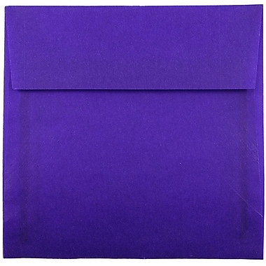 JAM Paper® 5.5 x 5.5 Square Envelopes, Purple Translucent Vellum, 25/pack (PACV507)