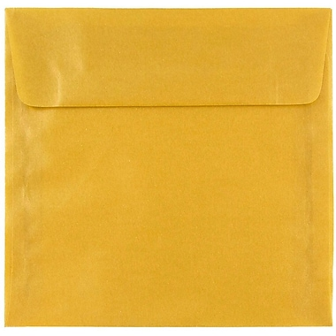 JAM Paper® 6 x 6 Square Envelopes, Gold Translucent Vellum, 25/pack (PACV577)