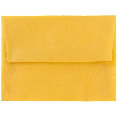 JAM Paper® A6 Invitation Envelopes, 4.75 x 6.5, Gold Translucent Vellum, 25/pack (PACV667)
