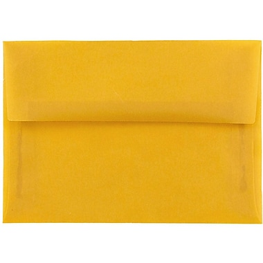 JAM Paper® A7 Invitation Envelopes, 5.25 x 7.25, Gold Translucent Vellum, 25/pack (PACV717)