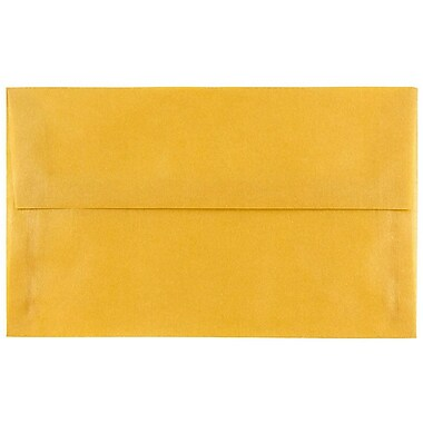 JAM Paper® A10 Invitation Envelopes, 6 x 9.5, Gold Translucent Vellum, 25/pack (PACV867)