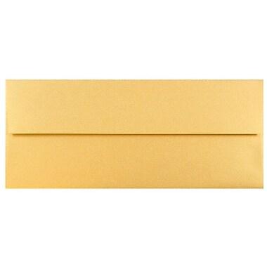 JAM Paper® #10 Business Envelopes, 4 1/8 x 9 1/2, Stardream Metallic Gold, 25/pack (SD5360 07)