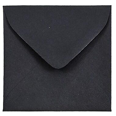 JAM Paper® 3.125 x 3.125 Mini Square Envelopes, Black Linen Recycled, 25/pack (V01200)