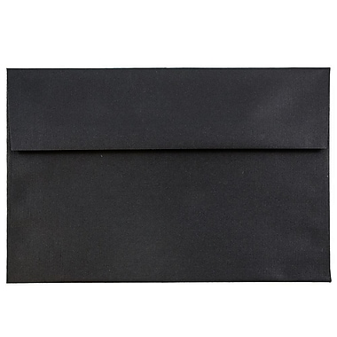 JAM Paper® A7 Invitation Envelopes, 5.25 x 7.25, Black Linen Recycled, 1000/carton (V01205B)