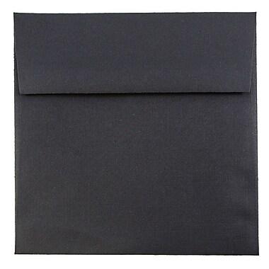 JAM Paper® 5.5 x 5.5 Square Envelopes, Black Linen Recycled, 25/pack (V01210)