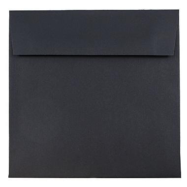 JAM Paper® 6.5 x 6.5 Square Envelopes, Black Linen Recycled, 1000/carton (V01211B)