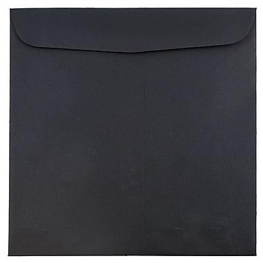 JAM Paper® 9.5 x 9.5 Square Envelopes, Black Linen Recycled, 25/pack (V01216)