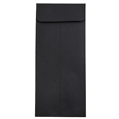 JAM Paper® #10 Policy Envelopes, 4 1/8 x 9 1/2, Black Linen Recycled, 25/pack (V01218)