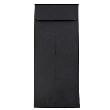 JAM Paper® #11 Policy Envelopes, 4 1/2 x 10 3/8, Black Linen Recycled, 25/pack (V01219)